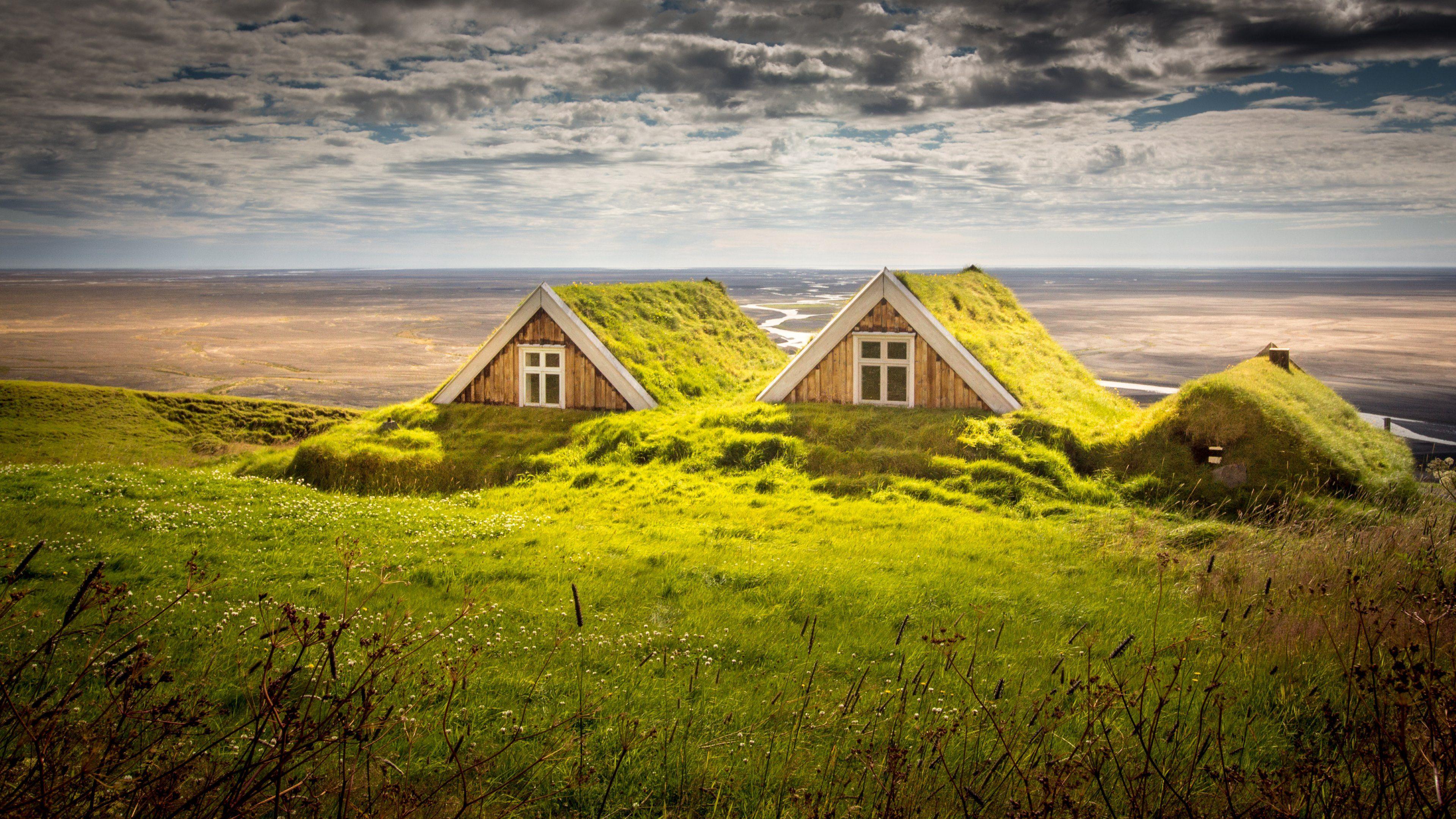 Iceland Houses Landscape Summer Iceland House House Landscape Summer Landscape