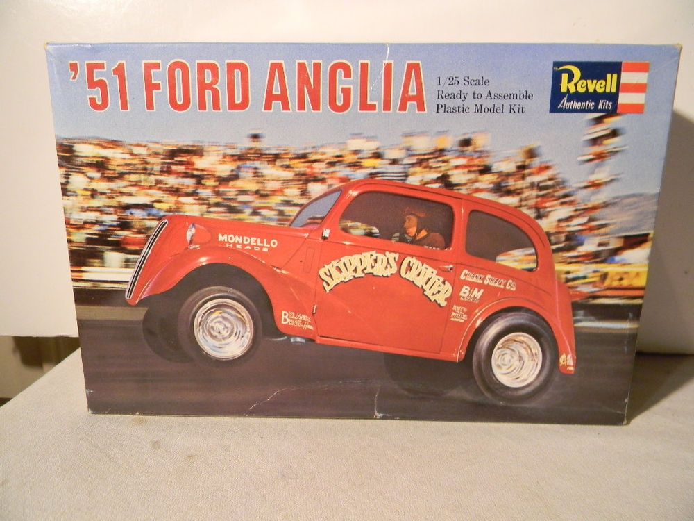 1966 Revell 1951 Ford Anglia Gasser Drag Car Original Issue Model