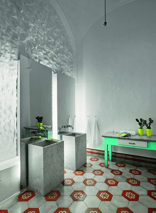 haus restaurierung modernes badezimmer zetastudio Отели - modernes badezimmer design
