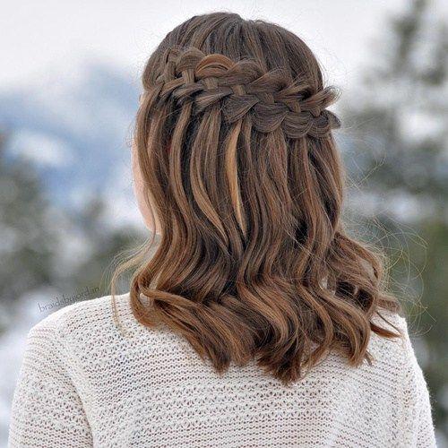 40 Flowing Waterfall Braid Styles Braids For Medium Length Hair Medium Length Hair Styles Medium Hair Styles