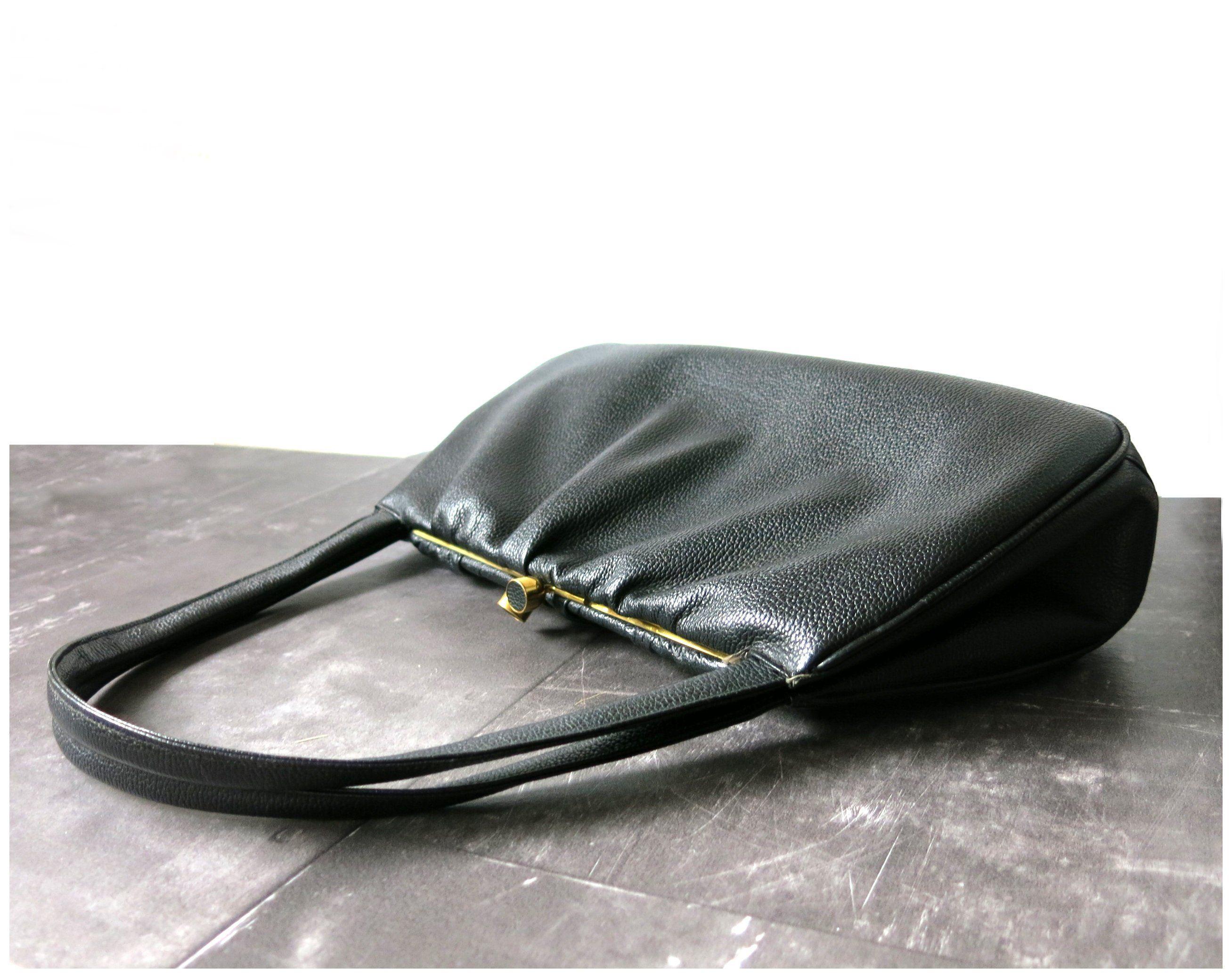 740e39f840aa5 Vintage Handtasche schwarz