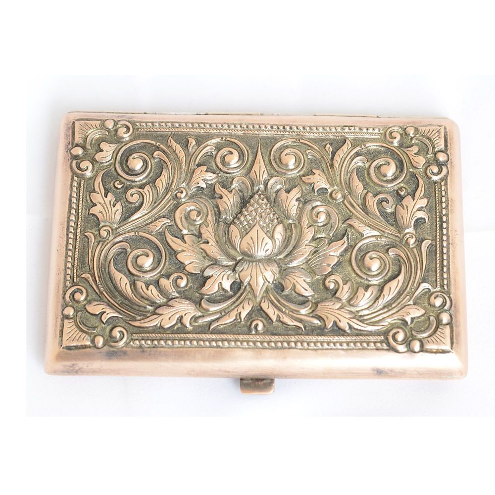 ANTIQUE ORIGINAL PERFECT YOGYA SILVER CIGARETTE / BUSINESS CARD CASE ...