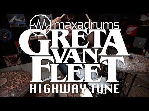Greta Van Fleet Highway Tune Drum Cover Youtube Drum Cover Fleet Drums