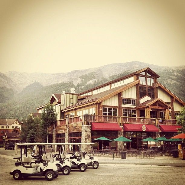 The Grand Hall at Copper Station in Copper Mountain, Colorado.  Rocky Mountains.