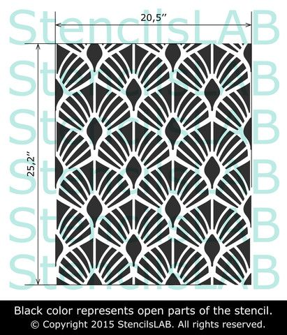 MAVIS- Floral Wall Stencil- Modern Decor Wall Stencil | Cutting ...