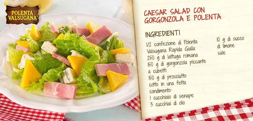 Salutiamo l'estate con una rivisitazione della classica #Caesar #Salad, oggi per voi con #gorgonzola e croccanti triangoli di #polenta!