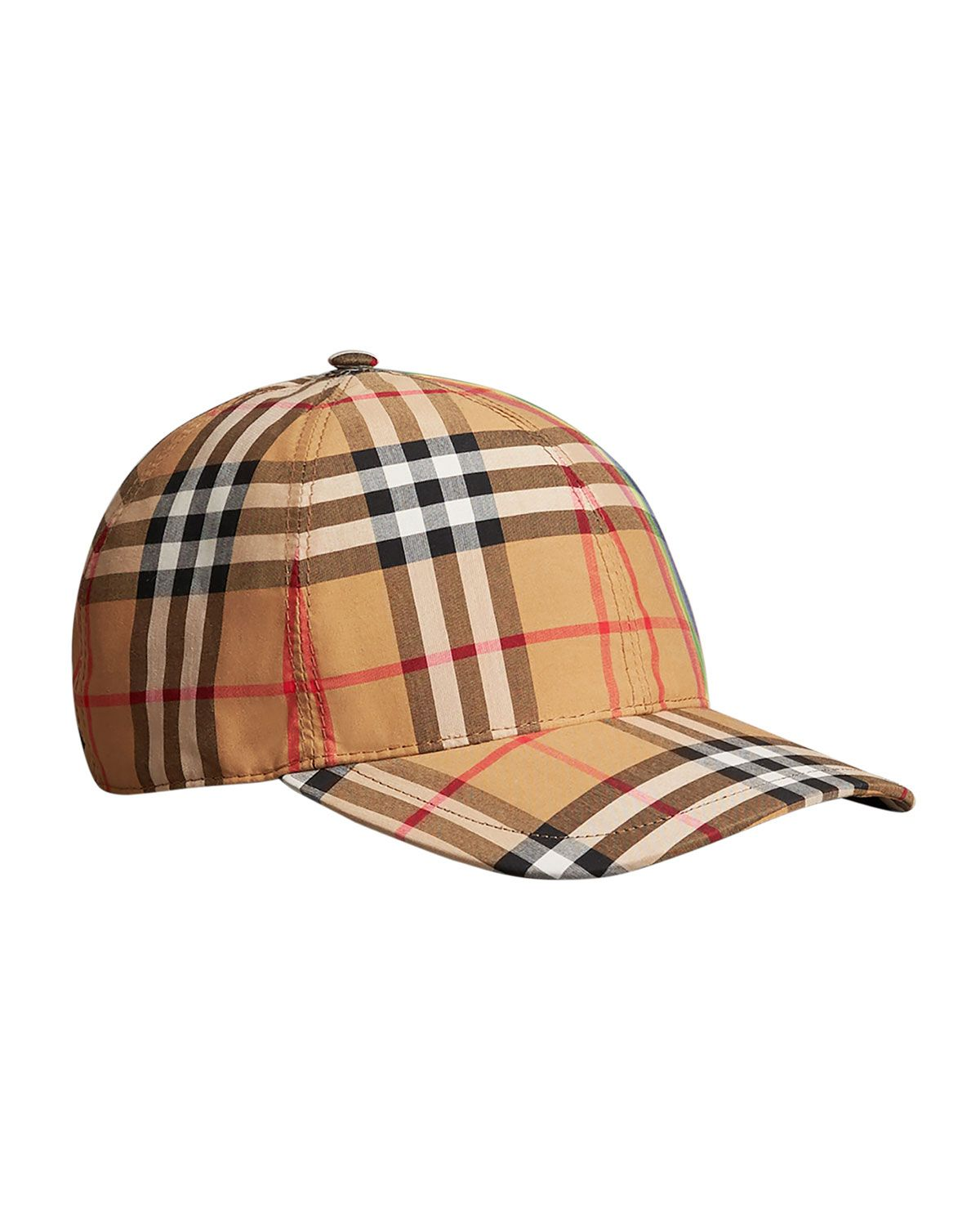68a230daf Rainbow Check Baseball Cap in 2019 | Products | Burberry cap ...