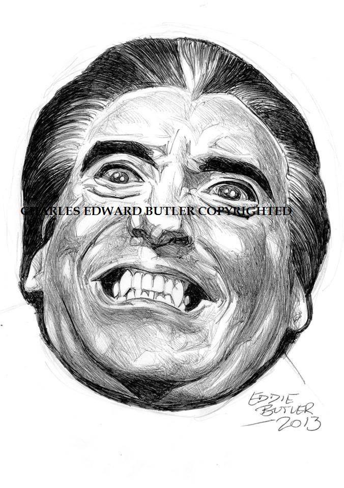 Christopher Lee in ballpoint pen