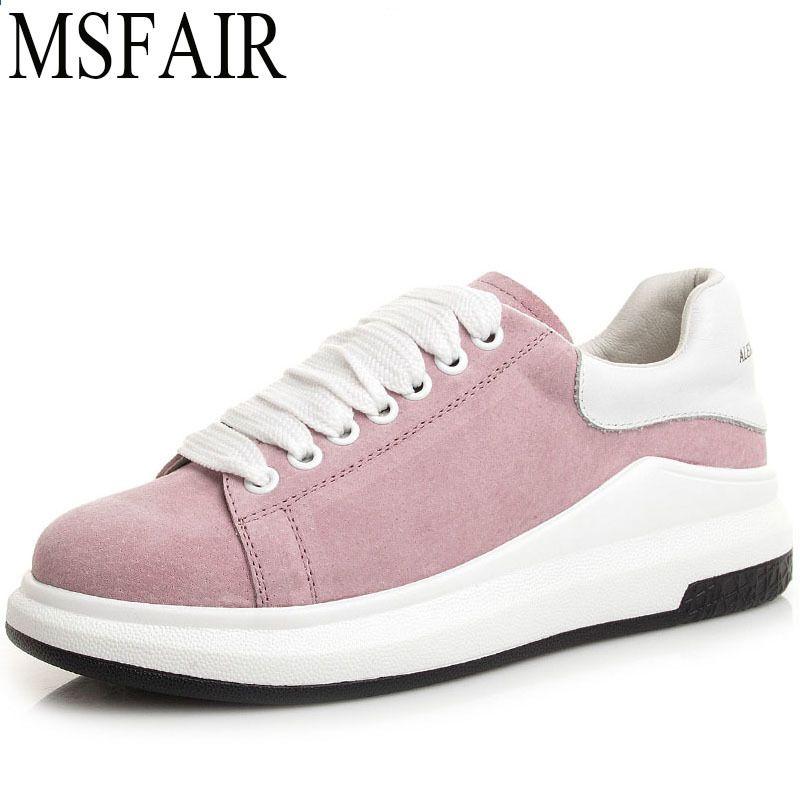 Msfair Damskie Buty Zimowe Sportowe Kobieta Marka Oryginalne Skorzane Buty Na Deskorolce Dla Kobiet Sportowe Trampki Na Swiezym Powietrz Sneakers Shoes Fashion