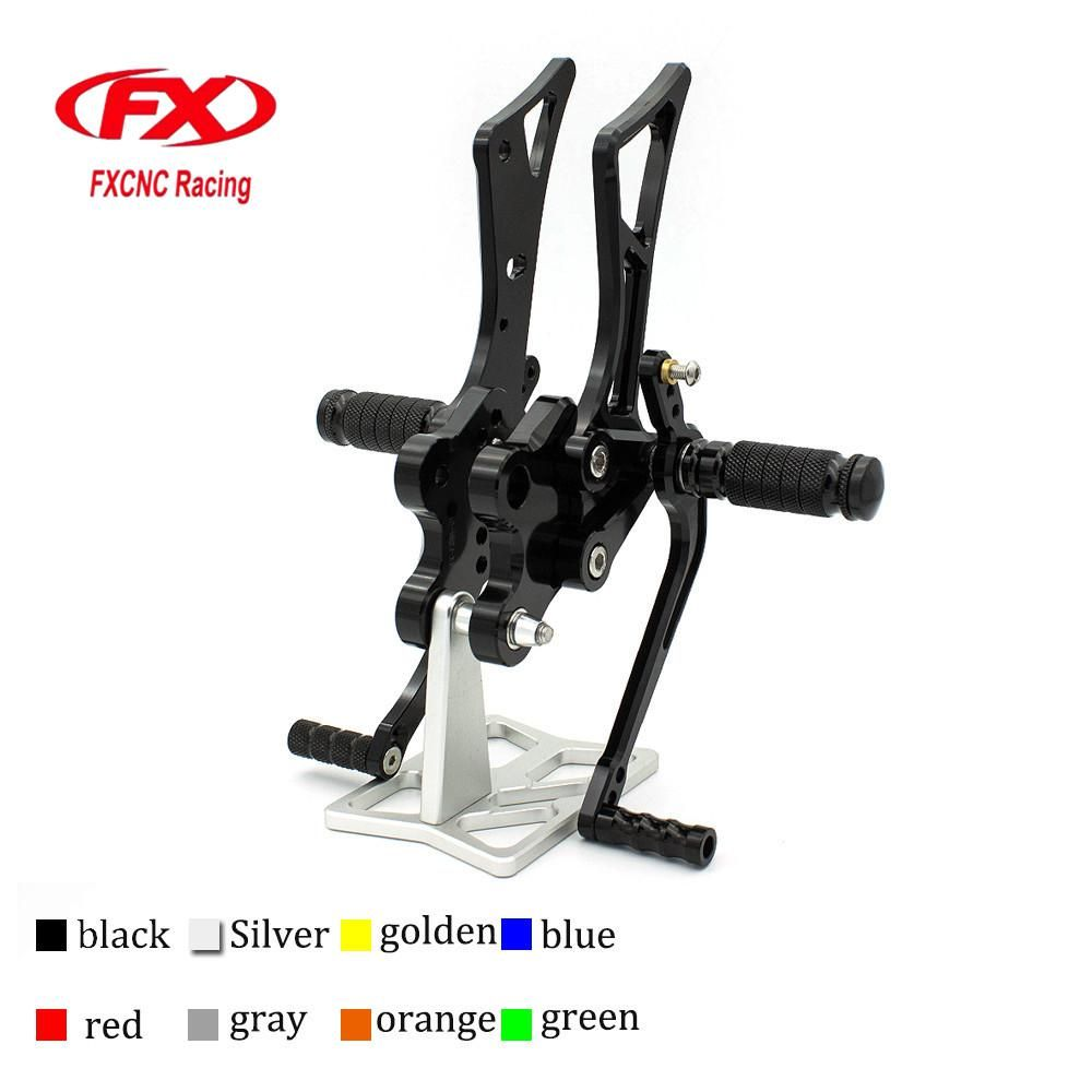 Cnc aluminum adjustable motorcycle rearsets rear set foot pegs pedal cnc aluminum adjustable motorcycle rearsets rear set foot pegs pedal footrest for yamaha fz1 2006 fandeluxe Images
