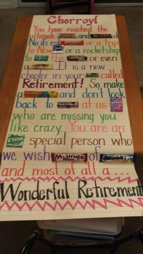 Retirement party candy poem | Retirement party gifts ...