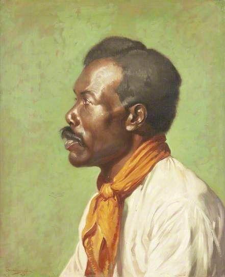 Zulu Head, 1921 by Howard Somerville (1874-1952)