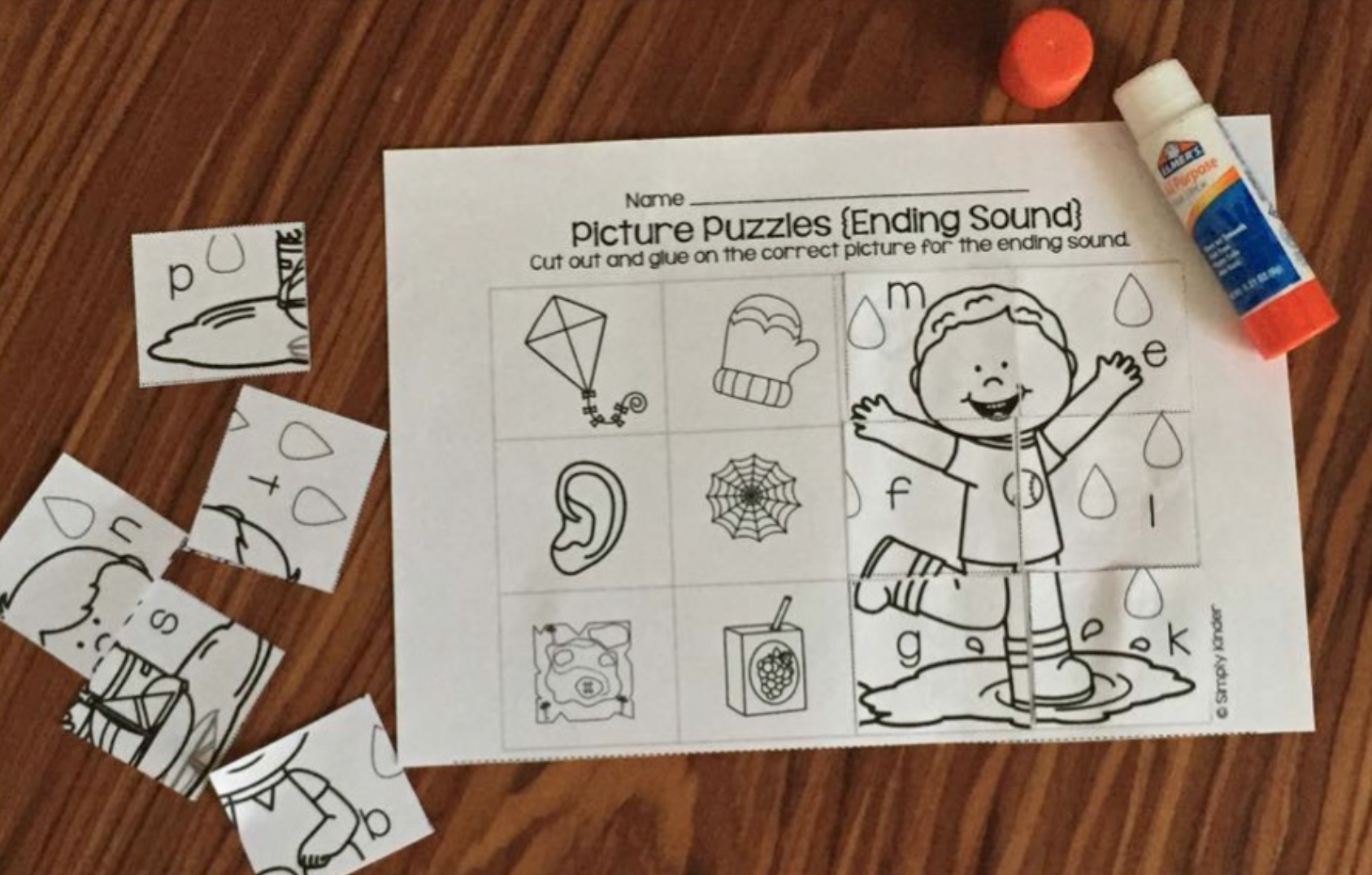 Spring Picture Puzzles Will Challenge Your Kindergarten