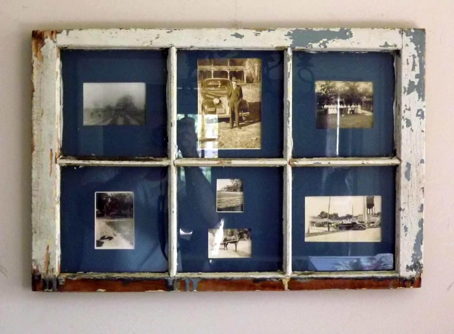 Vintage Window Picture Frame 6 Pane very cool ideas