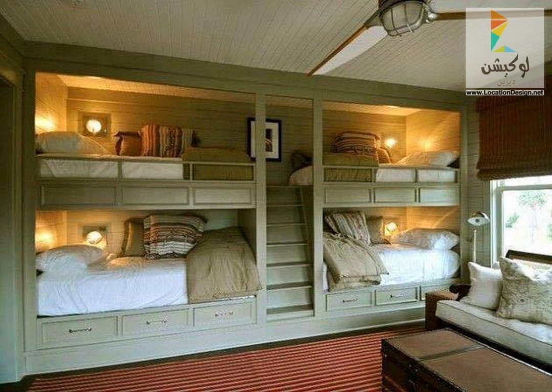 غرف نوم اطفال دورين للمساحات الضيقة لوكشين ديزين نت Bunk Beds Built In Bunk Bed Designs Built In Bunks