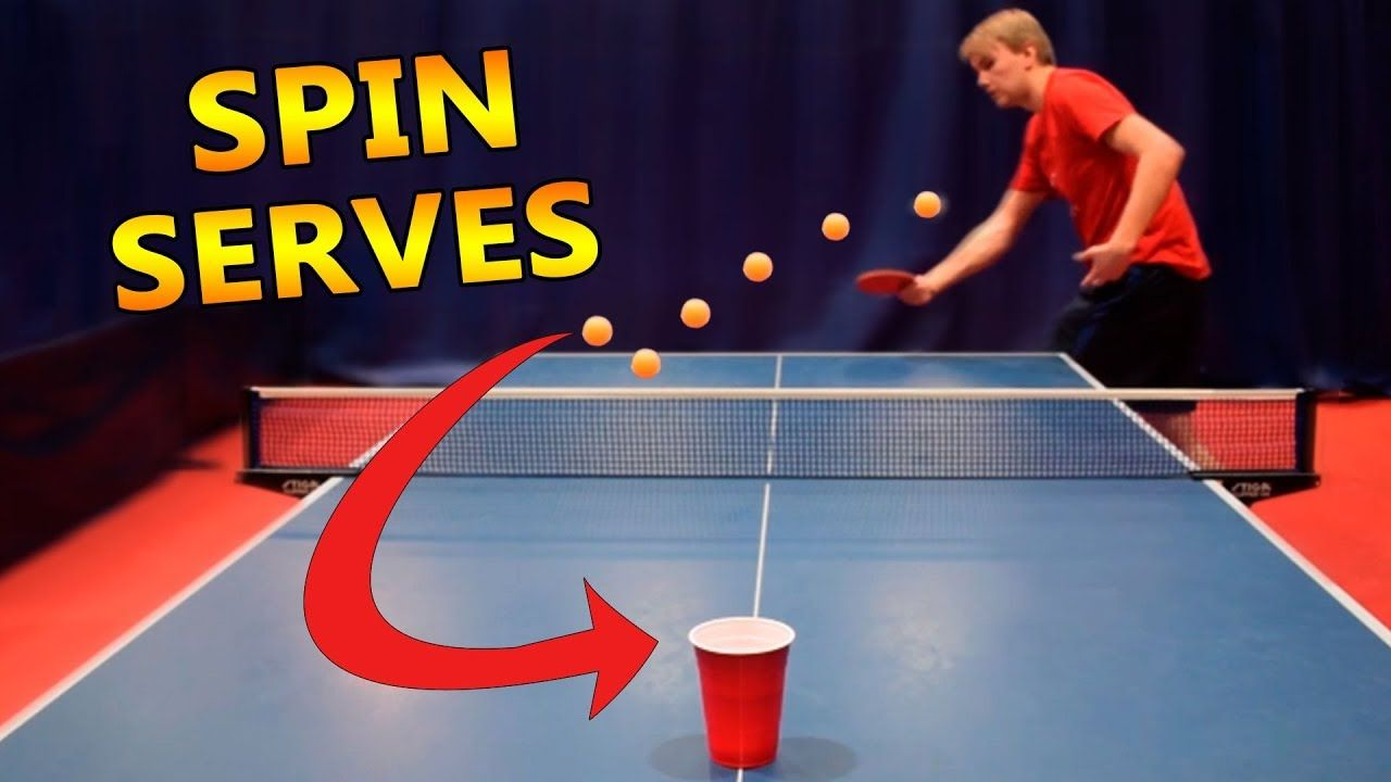 Table Tennis Spin Serves I Challenge Pongfinity Ep 11 Table Tennis Tennis Ping Pong
