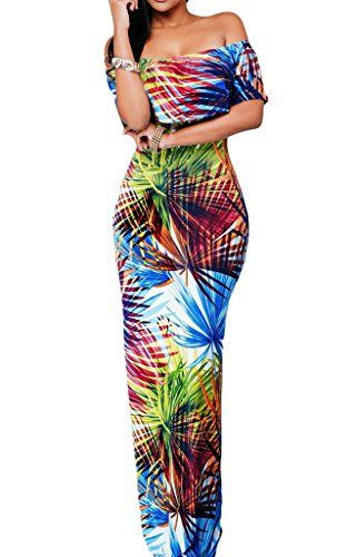 Flowers Off Shoulder Ruffle Party Homecoming Maxi Dress Large Tropical *** You can find out more details at the link of the image.