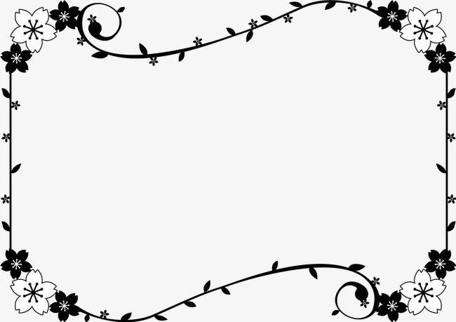 Pin de amb en CLIP DIBUJOS | Pinterest | Flores negras, Fronteras y ...