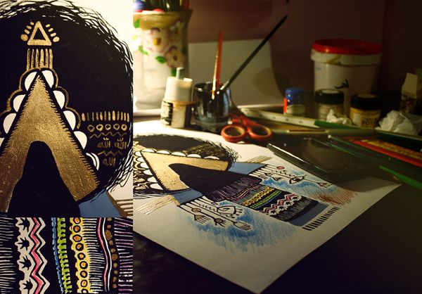 هيـك شفـتـهــــا By Esraa Ennajjar Via Behance Cards Illustration Playing Cards