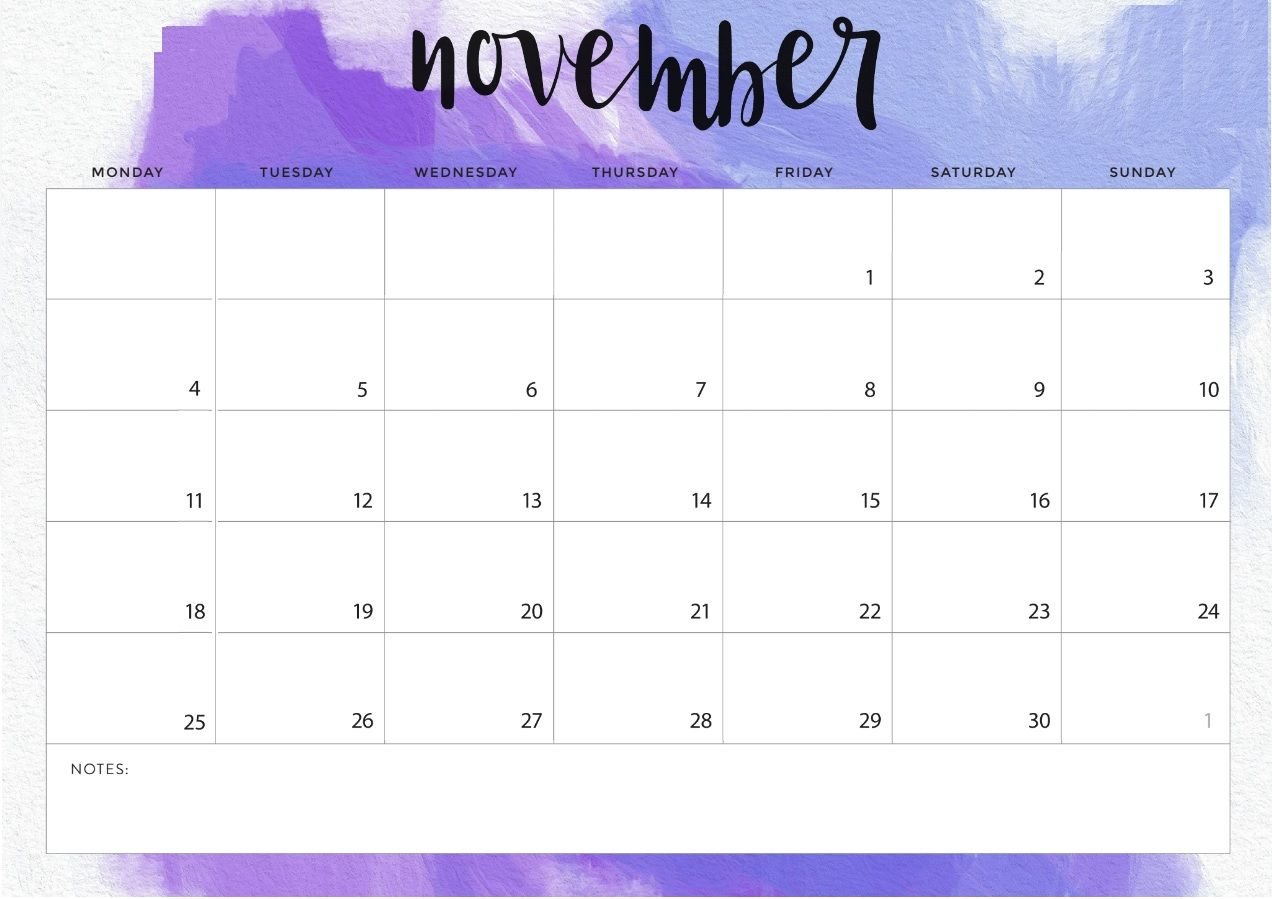 Monthly Desk Calendar