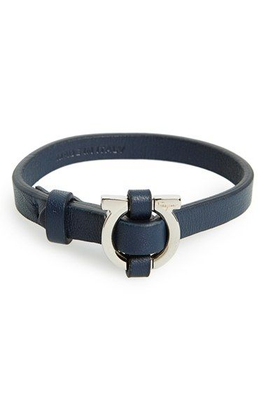 Salvatore Ferragamo Leather Bracelet Available At Nordstrom