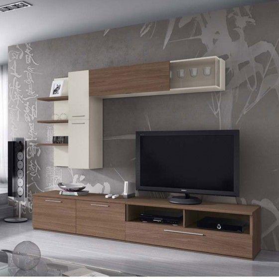 composition de meubles tv muraux design ambre atylia | salon ... - Composition Meuble Tv Design