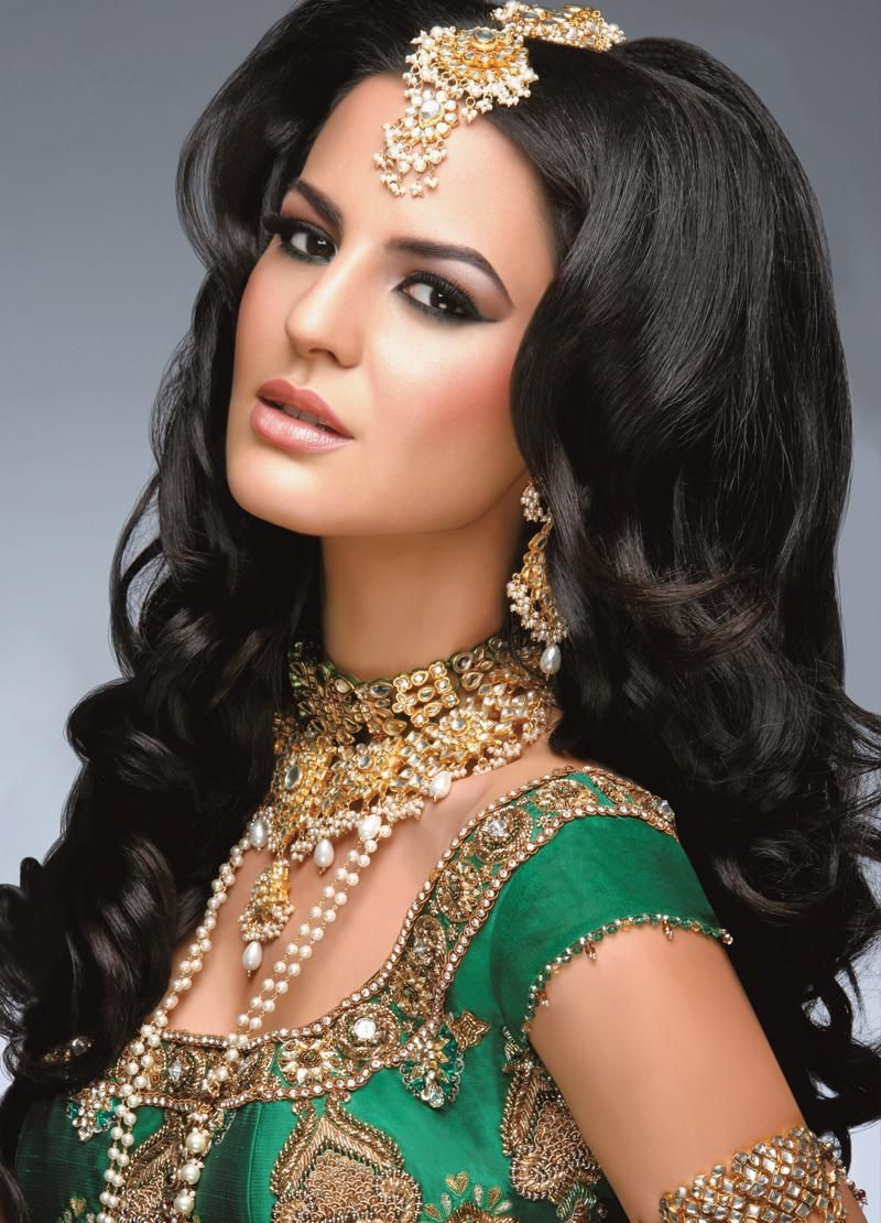 big hair - indian wedding style - via asiana wedding www