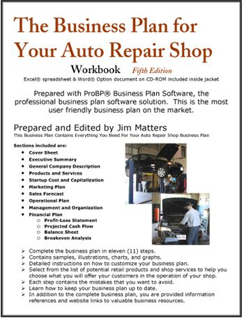 automotive shop business plan
