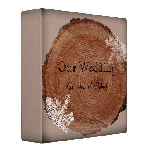 Tree Rings Rustic Country Wedding Binder