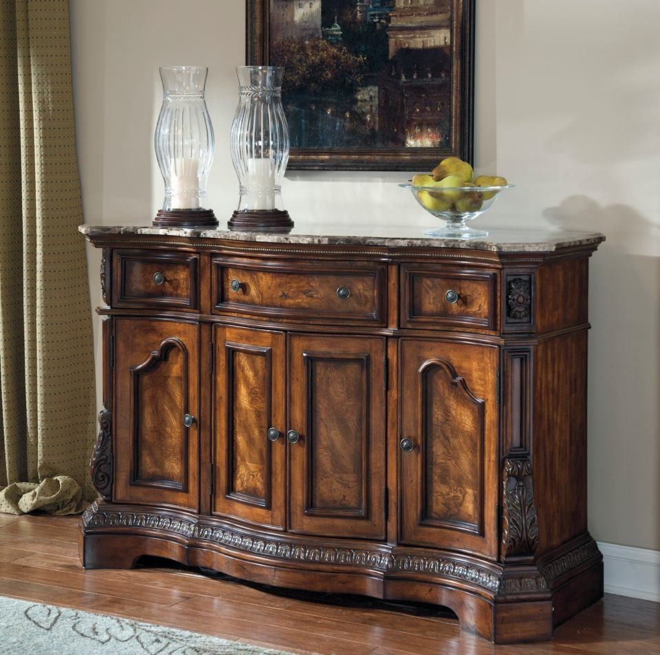 Amazing Signature Design By Ashley U0027Ledelleu0027 Dark Cherry Dining Room Server