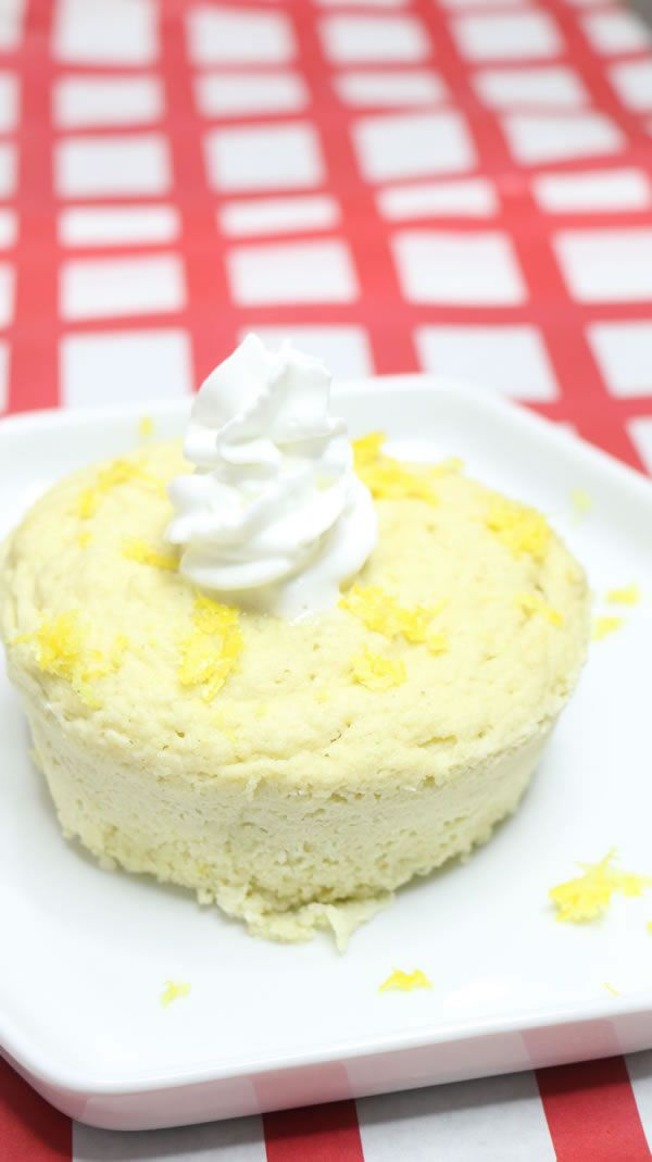 Keto Mug Cakes! Low Carb Microwave Lemon Mug Cake Idea ...