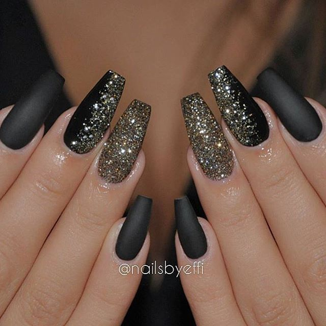 Love a good matte black manicure nailsbyeffi nail design nail have a look at the collection of 15 winter black nail art designs ideas stickers of these winter nails are amazing prinsesfo Images