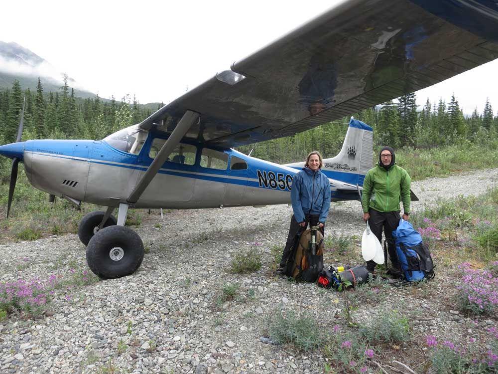 alaska cessna 185       upper Talkeetna River  Our 1960s era Cessna