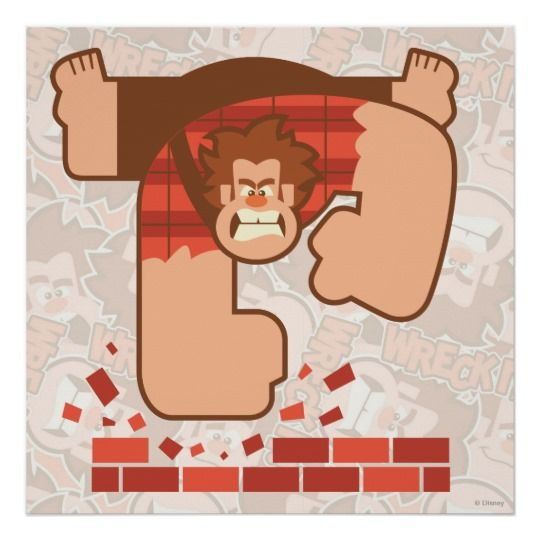Póster Arrojen los ladrillos de pinza Ralph | Zazzle.com