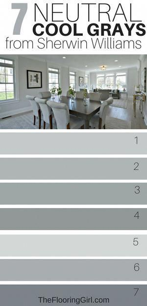 11 Awesome Cool Gray Paint Shades from Sherwin Williams is part of Paint colors for living room, Sherwin williams paint colors, Bathroom paint colors, Gray paint colors sherwin williams, Paint shades, Room paint colors - What are the best cool grays for painting walls  When it comes to painting, gray is by far the most popular paint color  whether it's for walls or cabinets  It adds depth and dimension to room  In this article, I share the best cool grays and coordinating accent walls