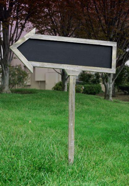 Chalkboard arrow signs