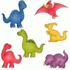 Pegatinas de dinosaurios para imprimirImagenes y dibujos para