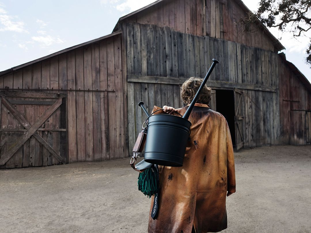 For the Spring 2018 CALVIN KLEIN 205W39NYC campaign, more than 20 models were photographed in and around a weathered barn; at once implacable and familiar, it could be found anywhere across the country, from the Heartland plains to California.  Featuring objects by Sterling Ruby.