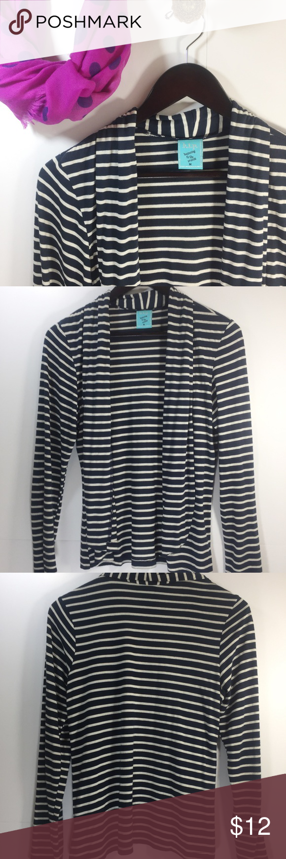 Striped Open Front Convertible Cardigan | Open front cardigan ...