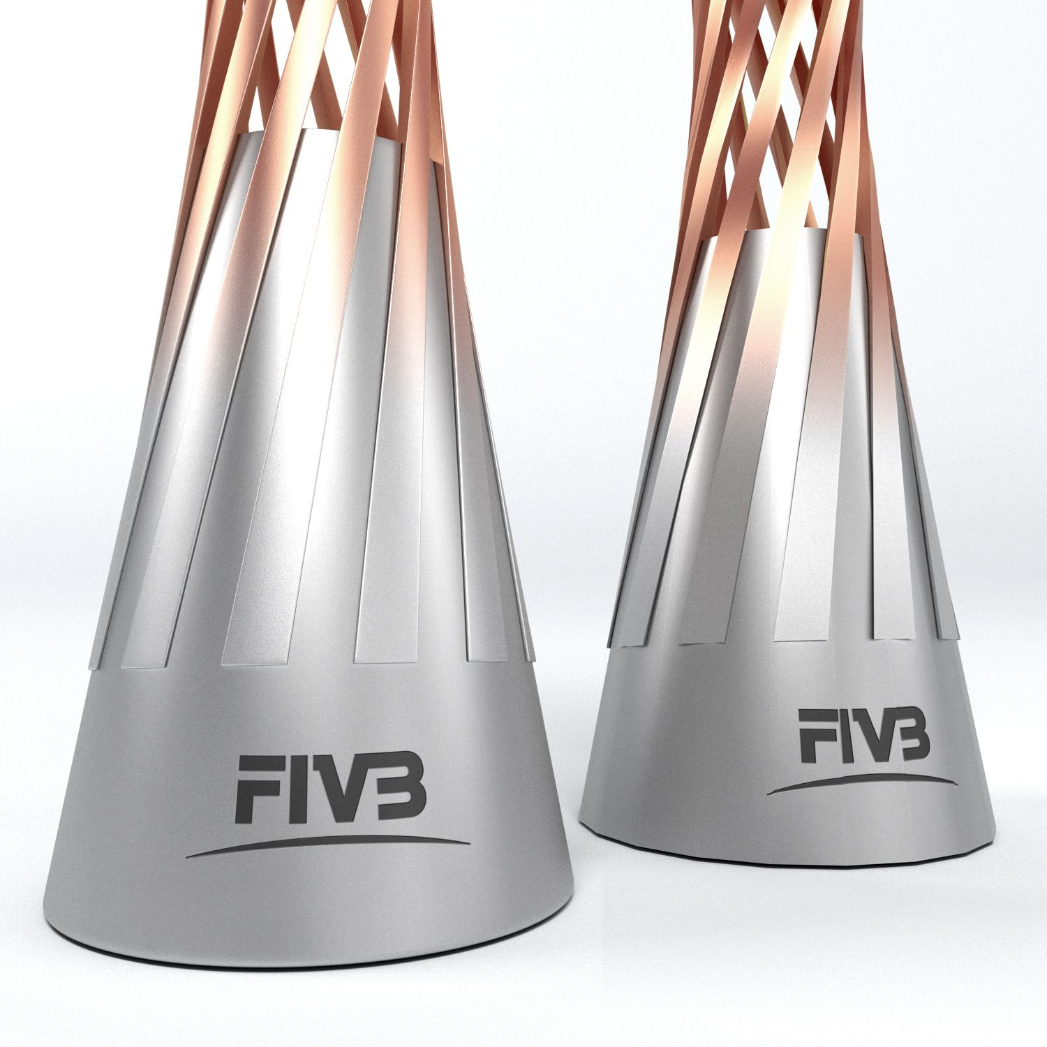 Volleyball World Championship Women Cup Trophy Low Poly Championship World Volleyball Women Trophy Design Trophy Low Poly