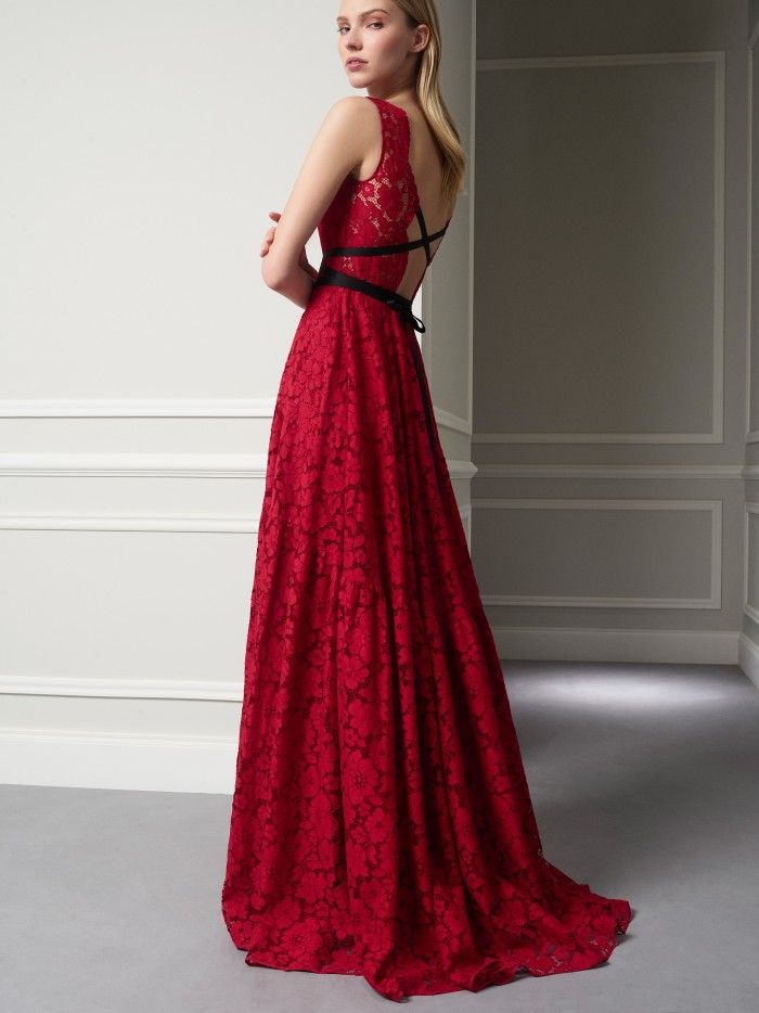2b017b6b3 Discover the Collection Ch Carolina Herrera, Luster, Winter 2017, Party  Dresses