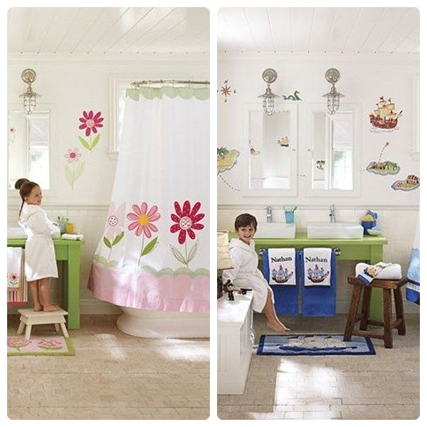 12 ideas para decorar ba os infantiles - Ideas para decorar banos pequenos ...