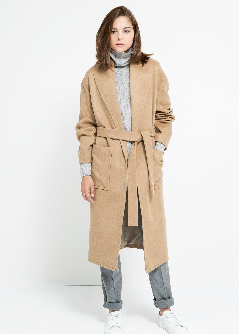 ef8fd0e6b0a0 Manteau en laine avec ceinture - Femme   Things to Wear   Pinterest ...