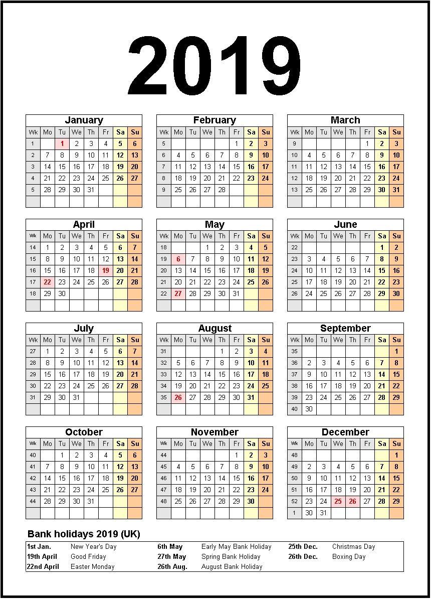 Printable Calendar 2019 United States Calendar 2019 2019 Calendar With Federal Holidays Excel Pdf Calendar Printables Calendar 2019 Template Calendar Template