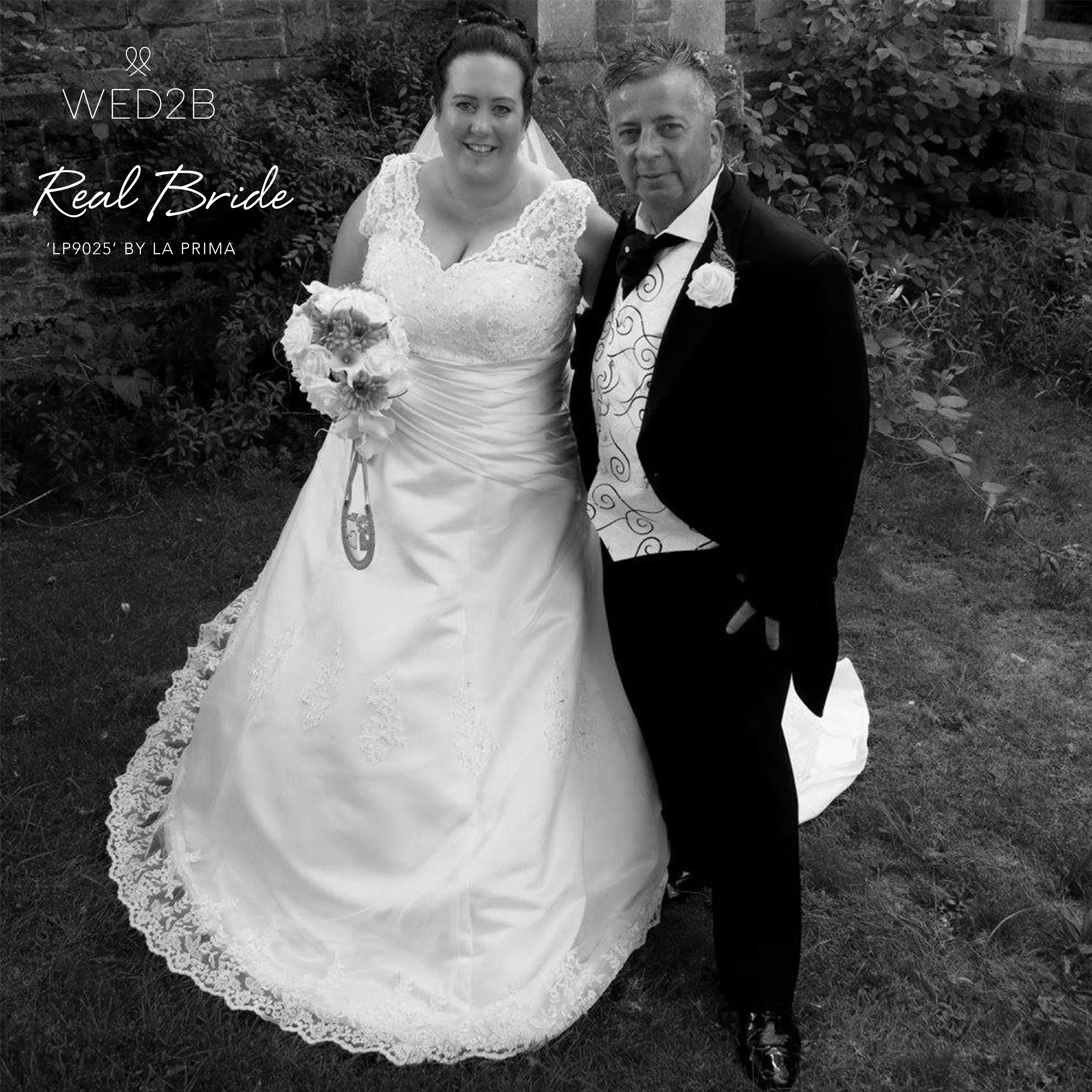 Real bride Helen looks divine in \'LP9025\' by La Prima 💕 The ...