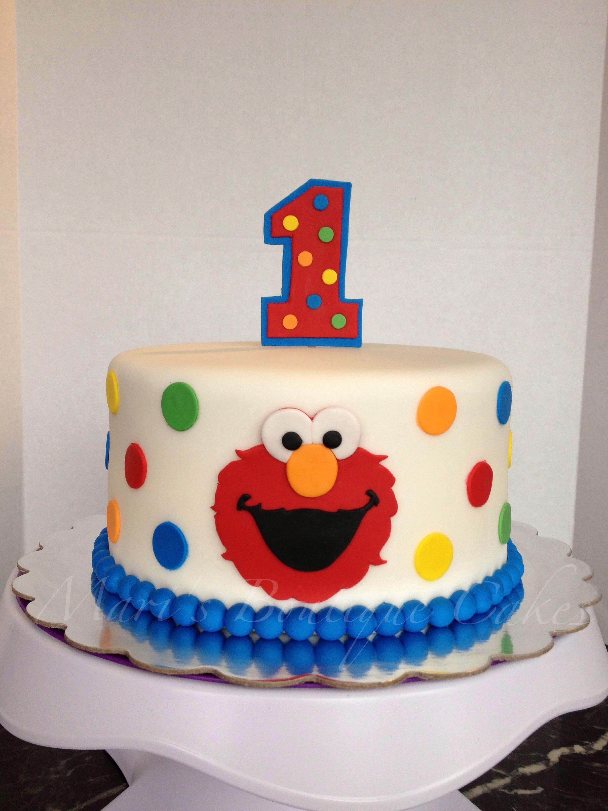 Elmo 1st Birthday Cake By Mari S Boutique Cakes Elmo