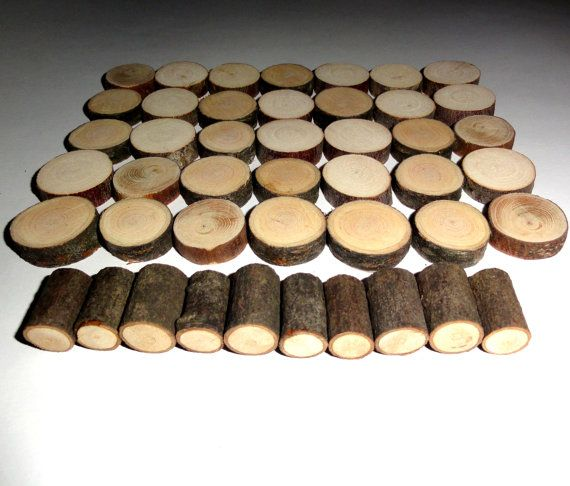 1 Inch Small Wood Slices 45 Pieces For Diy Projects By Nayasart