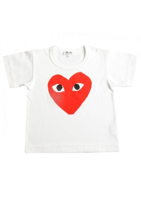 e2853ad1859239 Comme Des Garcons Clothing | PLAY Kid's Red Heart Logo T Shirt White | Buy  Comme Des Garcons Play Clothing Online #commedesgarcons #play #kids #t-shirt