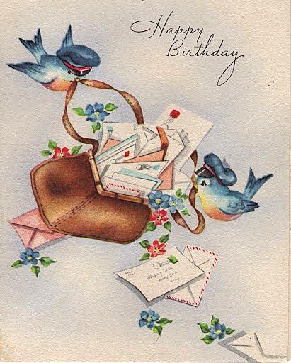 Vintage bluebird birthday card cards birthday pinterest vintage bluebird birthday card m4hsunfo