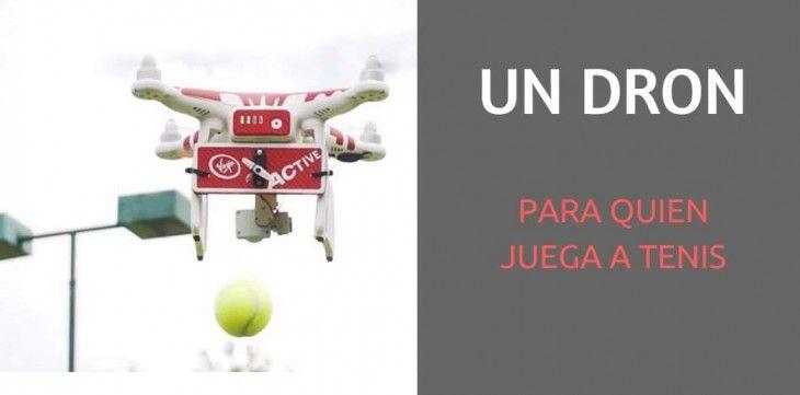 Lee Un dron diseñado para ayudar a jugadores de tenis